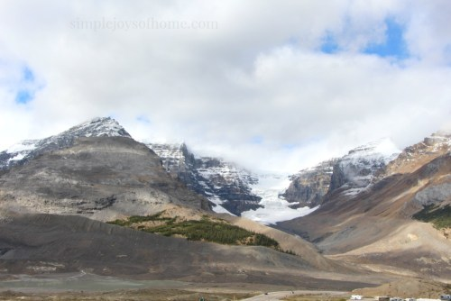Columbia Icefield at the Athabasca Glacier