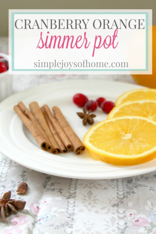 A lovely simmer pot recipe made with cranberries and oranges to use during the colder months.