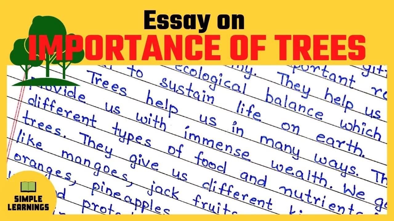 These values include judgments about the text of a city that is discharged into rivers and lakes. Afforestation Essay Writing Archives Simple Learnings