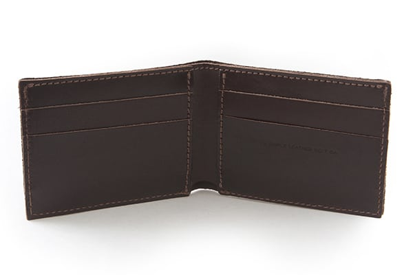Essential Wallet Havana Inside - Simple Leather Belt Co