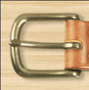 A Simple Leather Belt Co Brass Slider Buckle