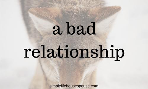 bad relationship
