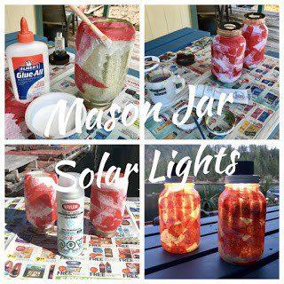 Homestead Blog Hop Feature - Mason Jar Solar Lights Craft