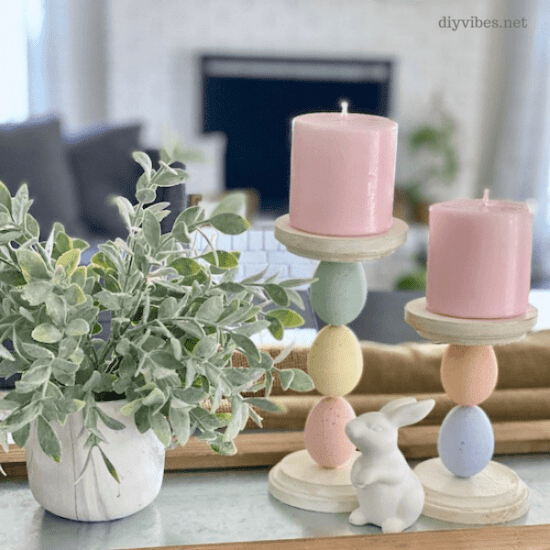 Homestead Blog Hop Feature - easter-egg-candle-holders-tray