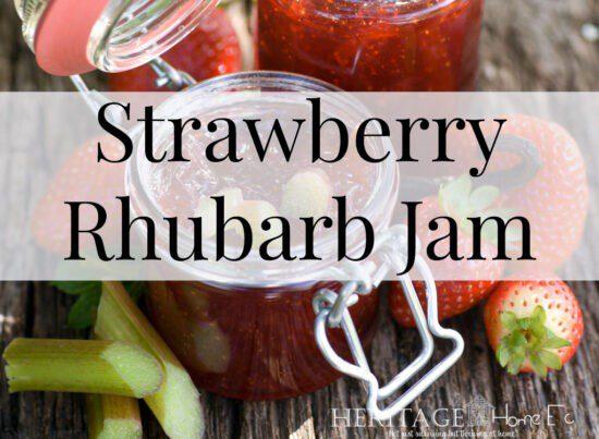 Homestead Blog Hop Feature - Strawberry Rhubarb Jam Canning Recipe
