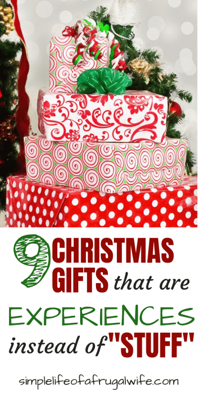 Give gifts that are Experiences, not Stuff this Christmas
