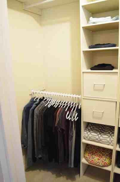 Minimalist Closet Makeover - blank slate