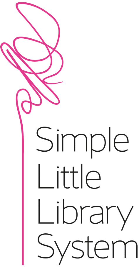 Simple Little Library System logo pink