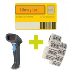 Bundle deal with Syble scanner, 500 library cards, 2000 barcode labels