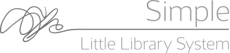 Simple Little Library system Logo