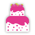 two tier pink cake logo