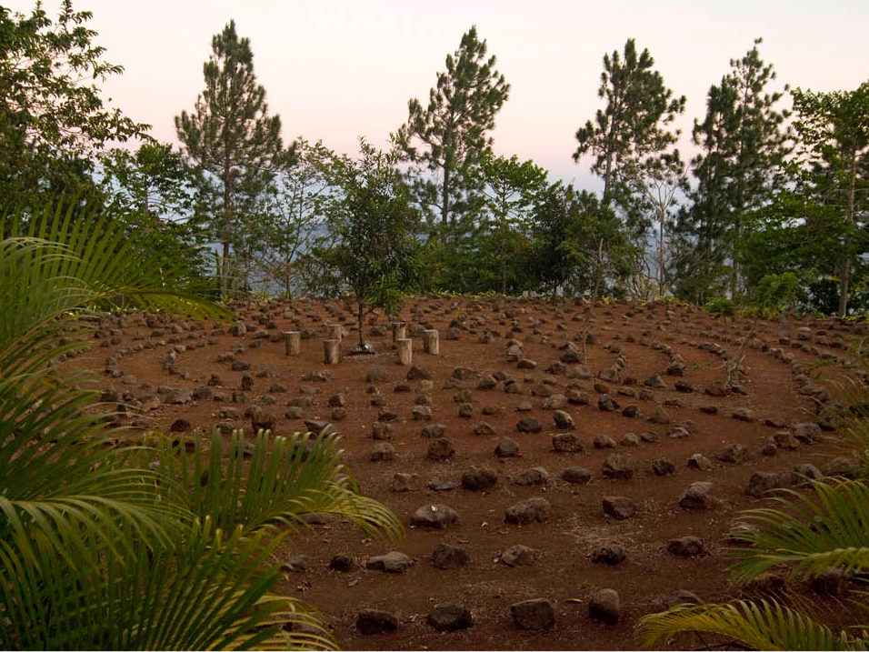 a photograph of the labyrinth at Refugio de Los Angeles