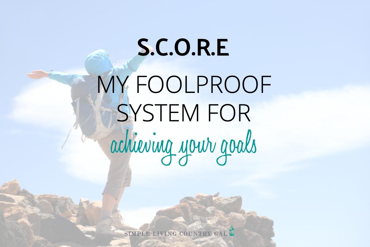 Simple Goal Setting