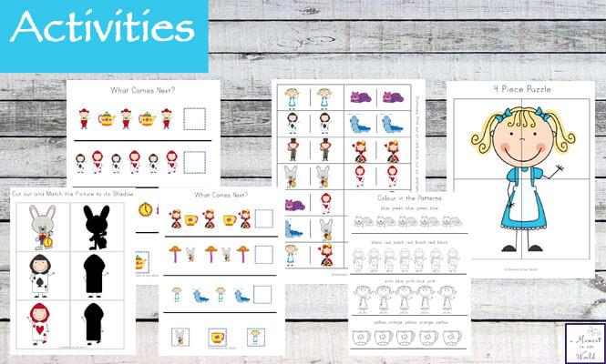 Alice In Wonderland Tots To Prep Printable Pack Simple