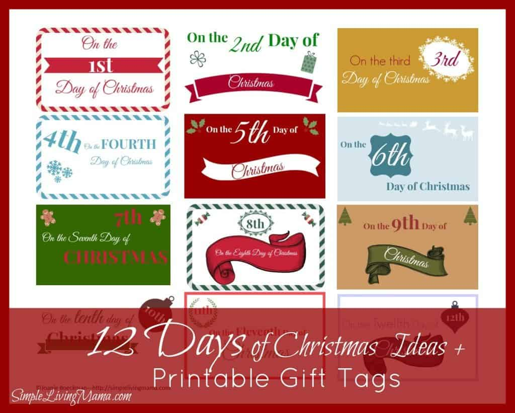 The 12 Days Of Christmas Ideas Printable T Tags