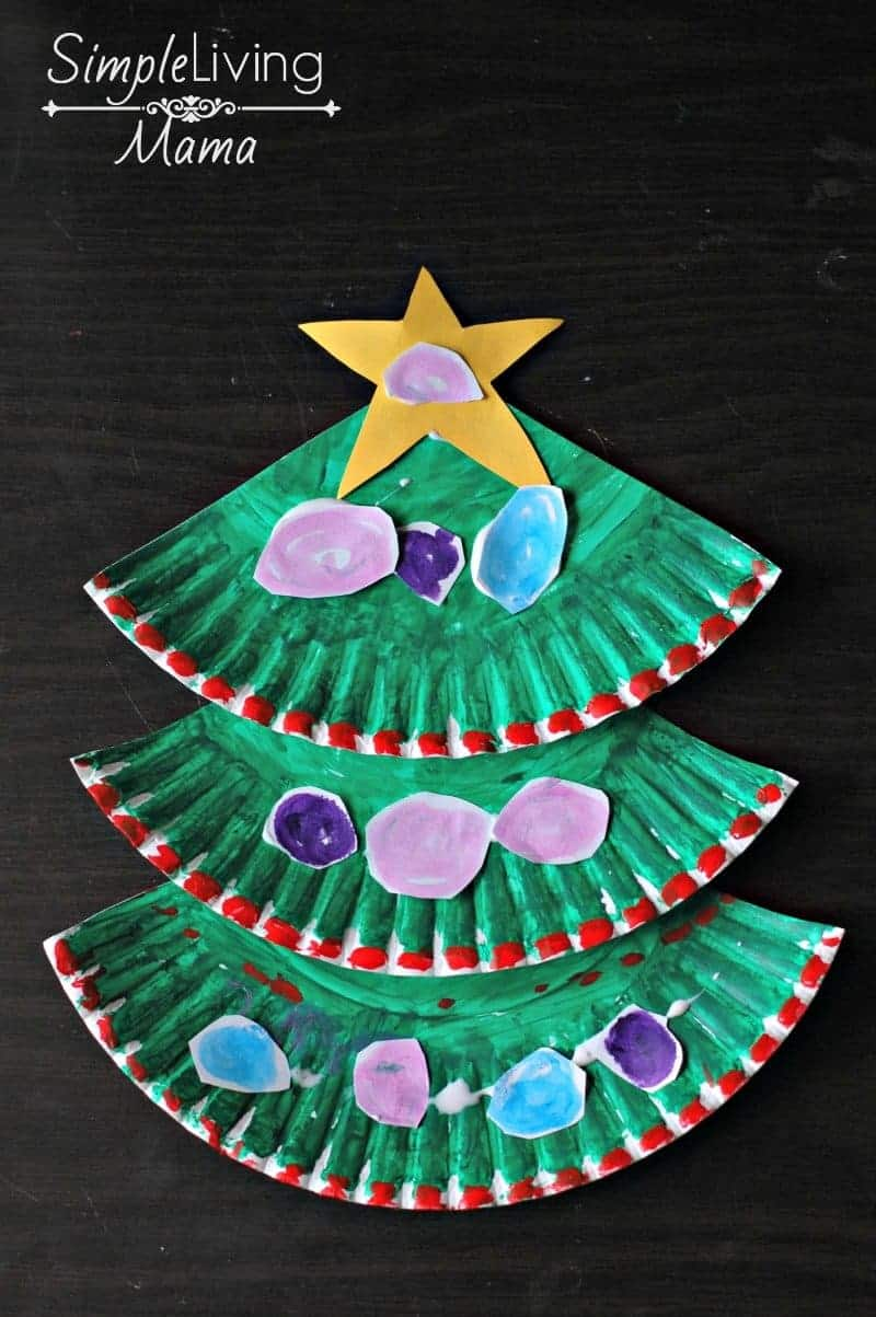 A fun Paper Plate Christmas Tree craft