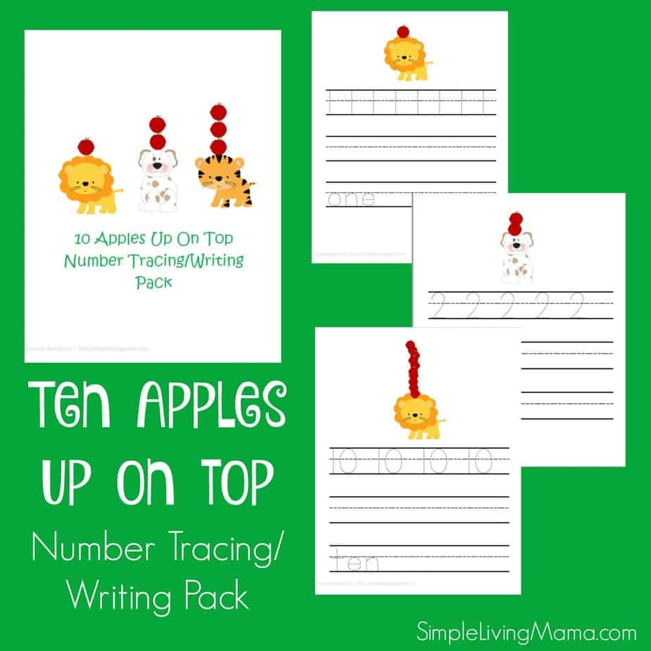Ten Apples Up On Top Number Writing Tracing Pack