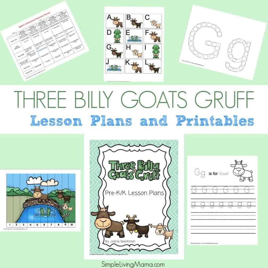 Three Billy Goats Gruff Worksheet