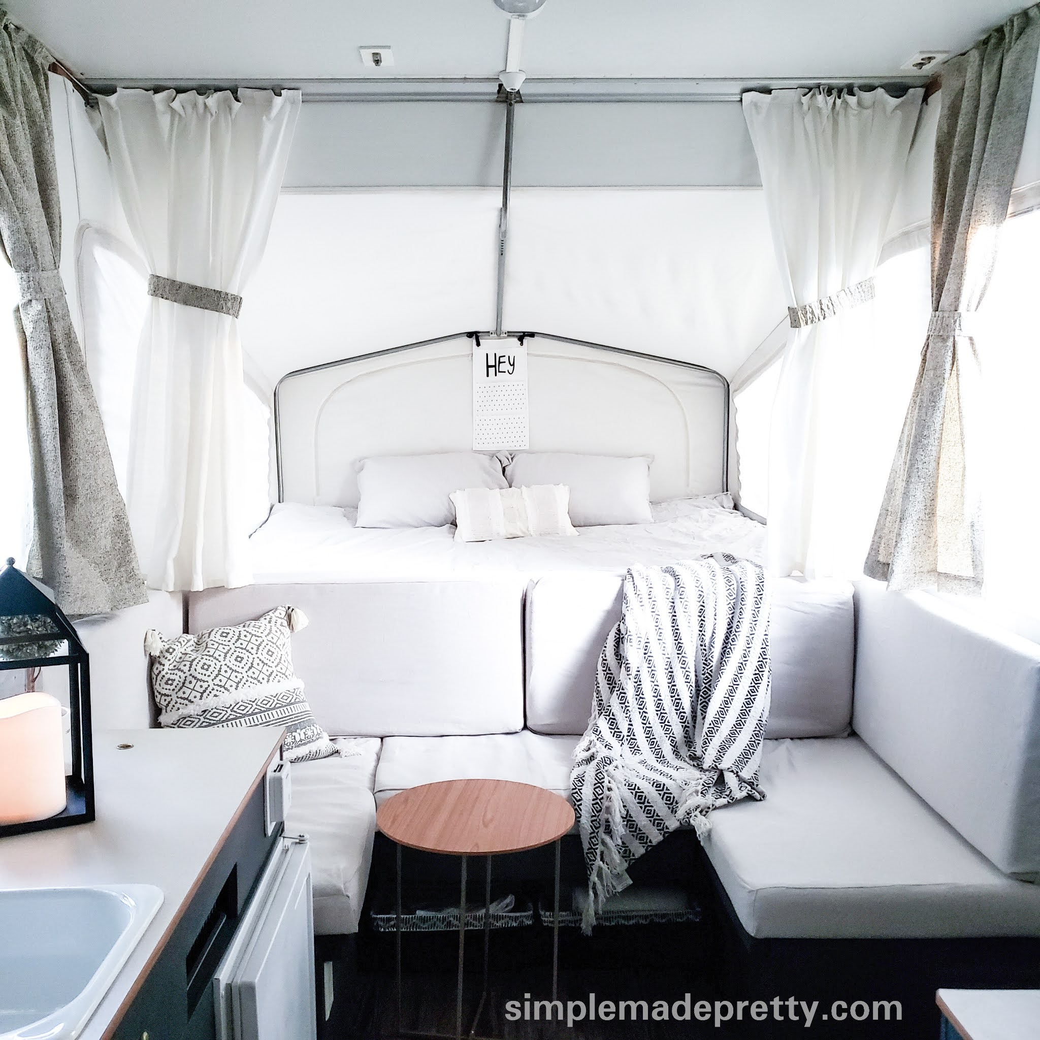 pop up camper remodel on a budget