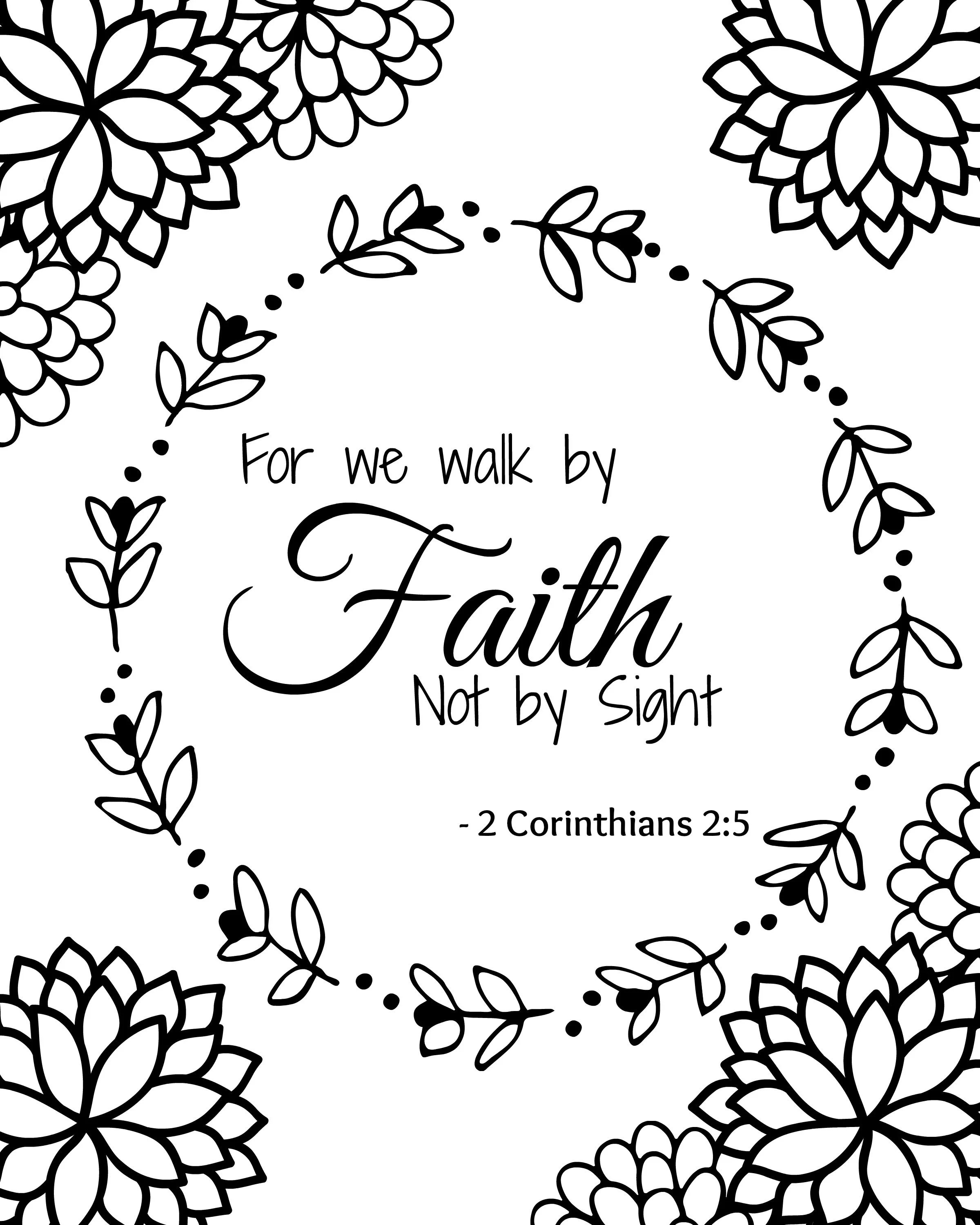 Must Have Free Bible Verse Printable Coloring Sheets