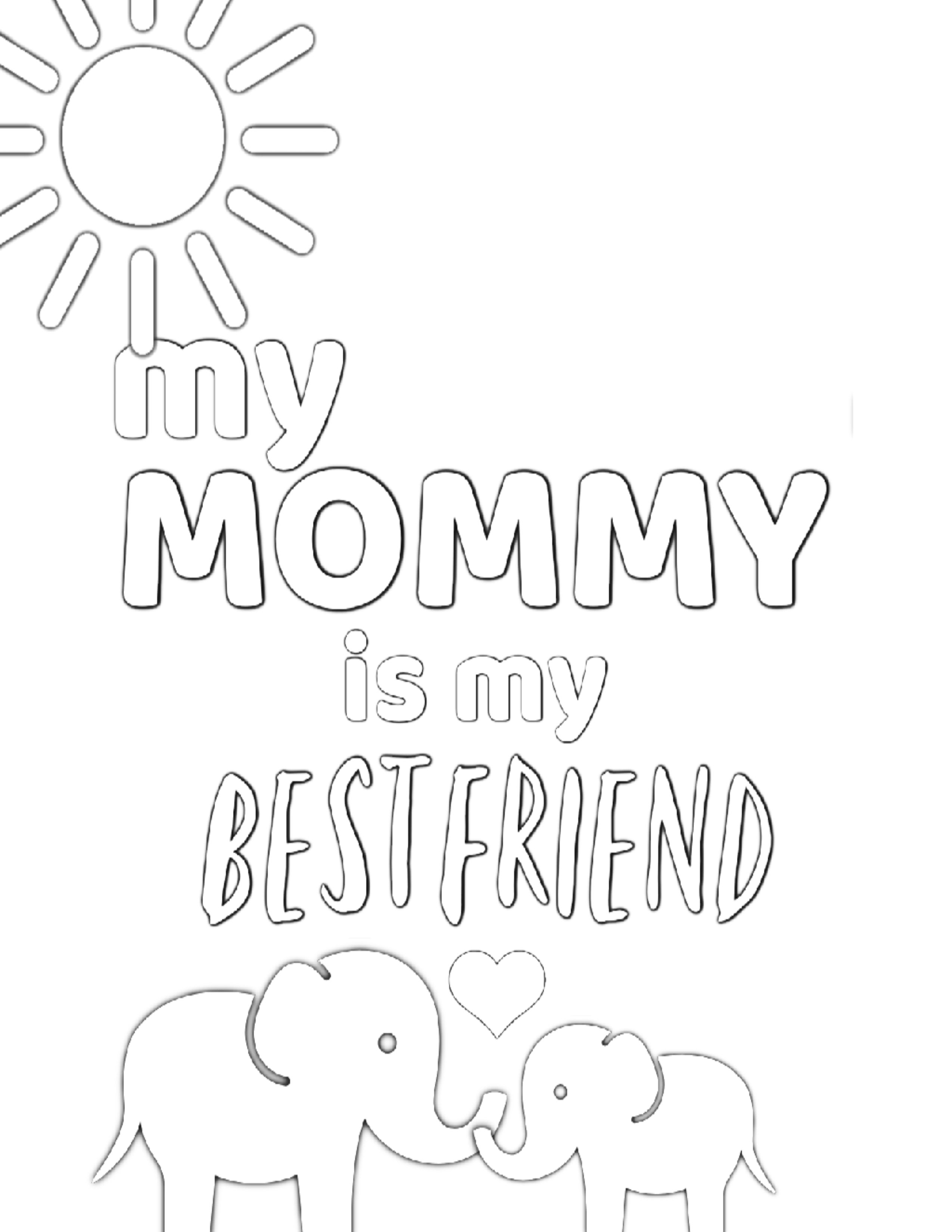Free Printable Coloring Pages For Mom