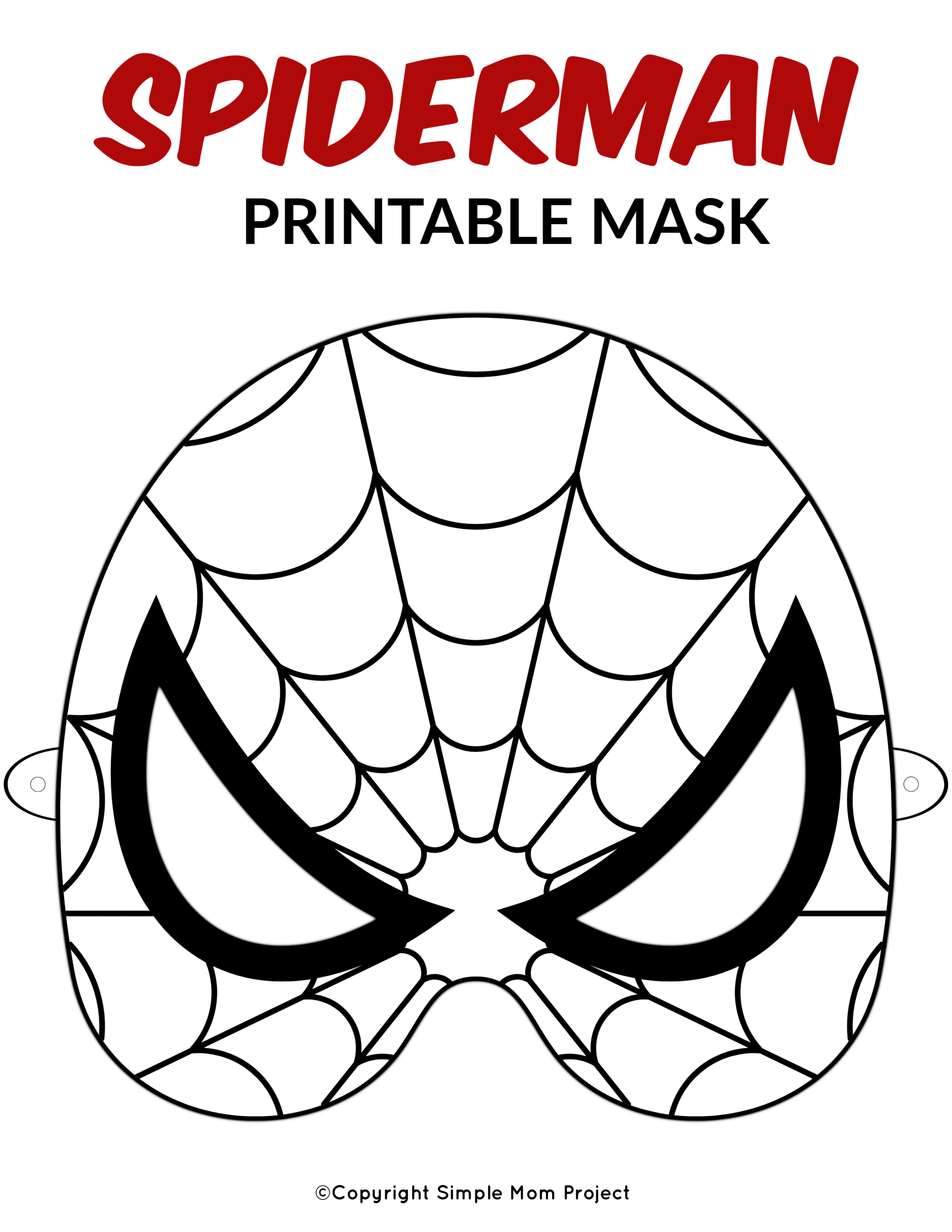 Free Printable Superhero Face Masks For Kids