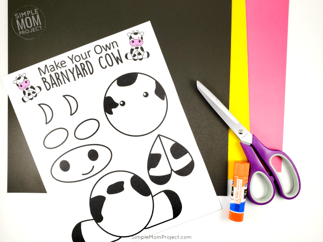 Cute and Fun Farm Craft Cow Art Project - Simple Mom Project