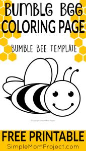 printable bee template outline