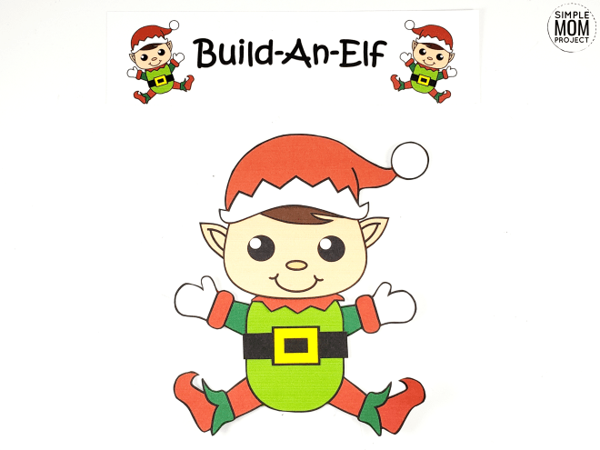 Click and print this easy to make elf template for kids of all ages, including preschoolers and toddlers. Give this elf as a fun Christmas card, gift him, make Christmas tags or use him as a diy Christmas ornament! #Christmas #ChristmasCrafts #Elf #ElfCrafts #ElfOrnament #DiyChristmasOrnaments #SimpleMomProject