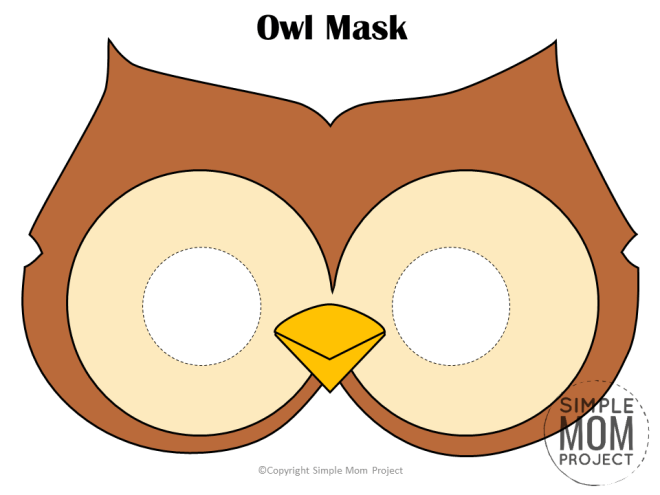 Free Printable Owl Mask Template for Kids