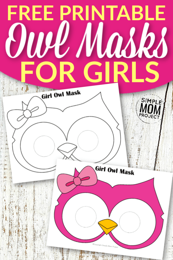 Free Printable Owl Mask Templates for Girls