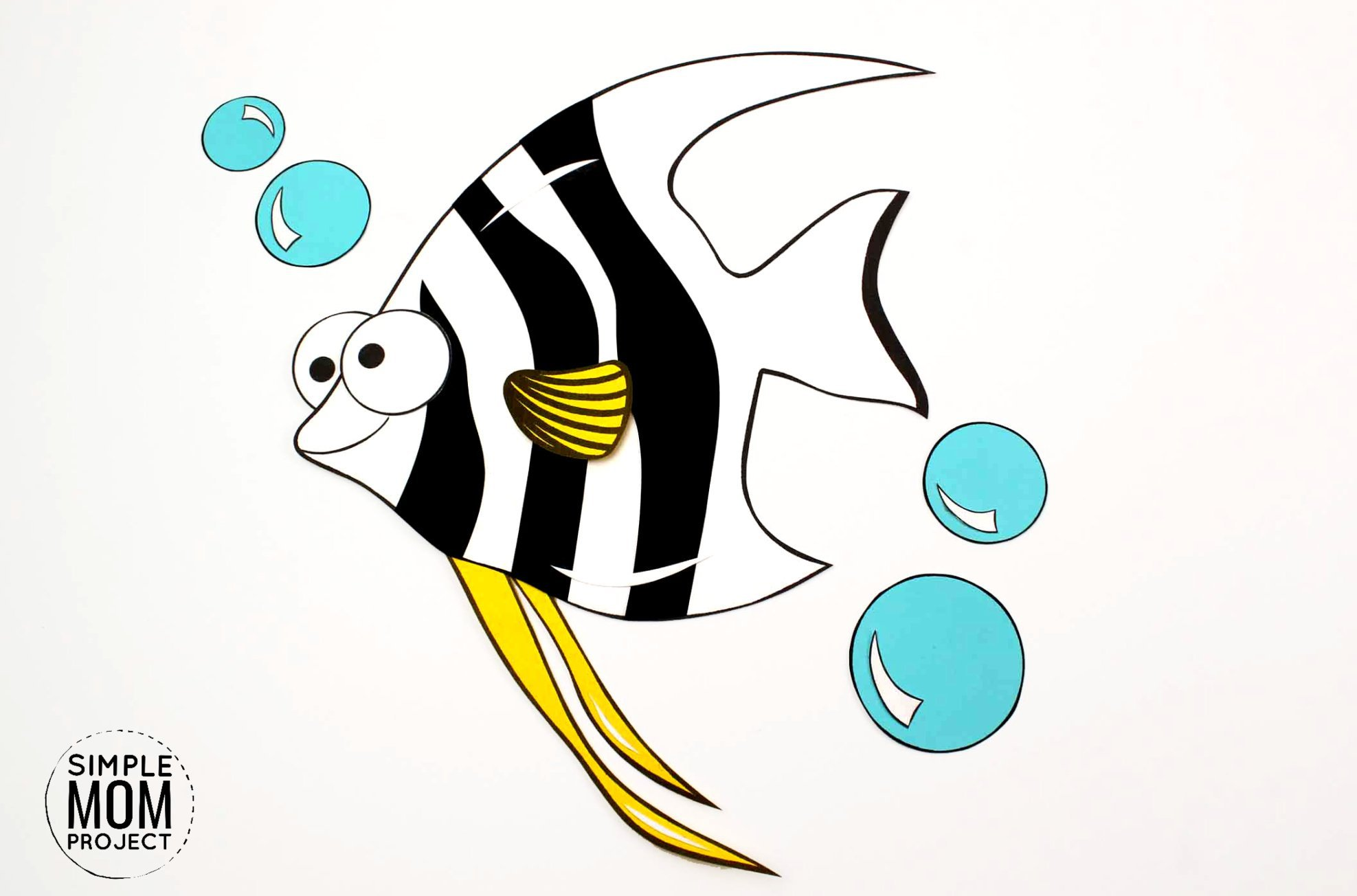 Easy Diy Angelfish Craft Printable With Free Template