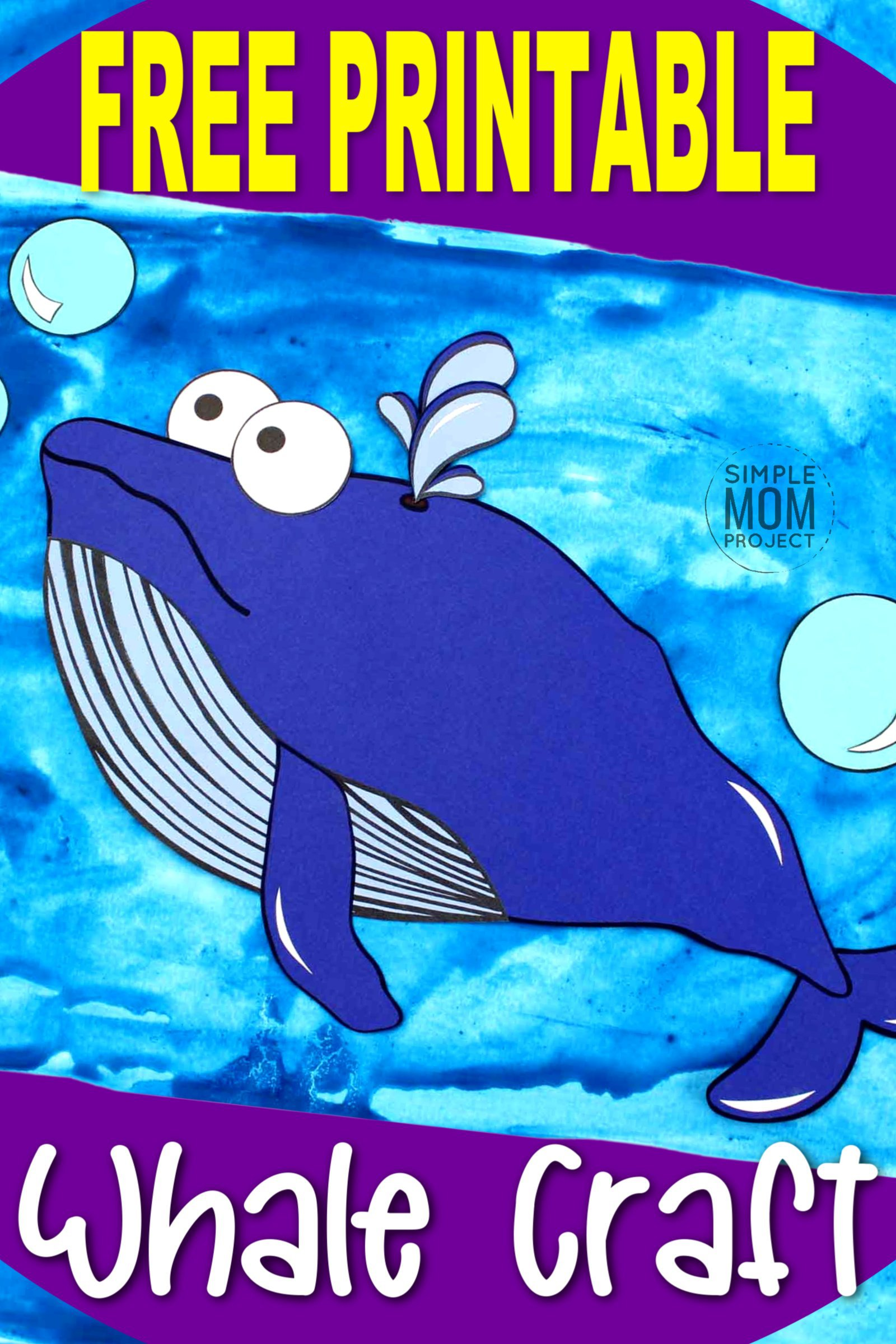 Fun And Easy Cut And Paste Sperm Whale Craft For Kids
