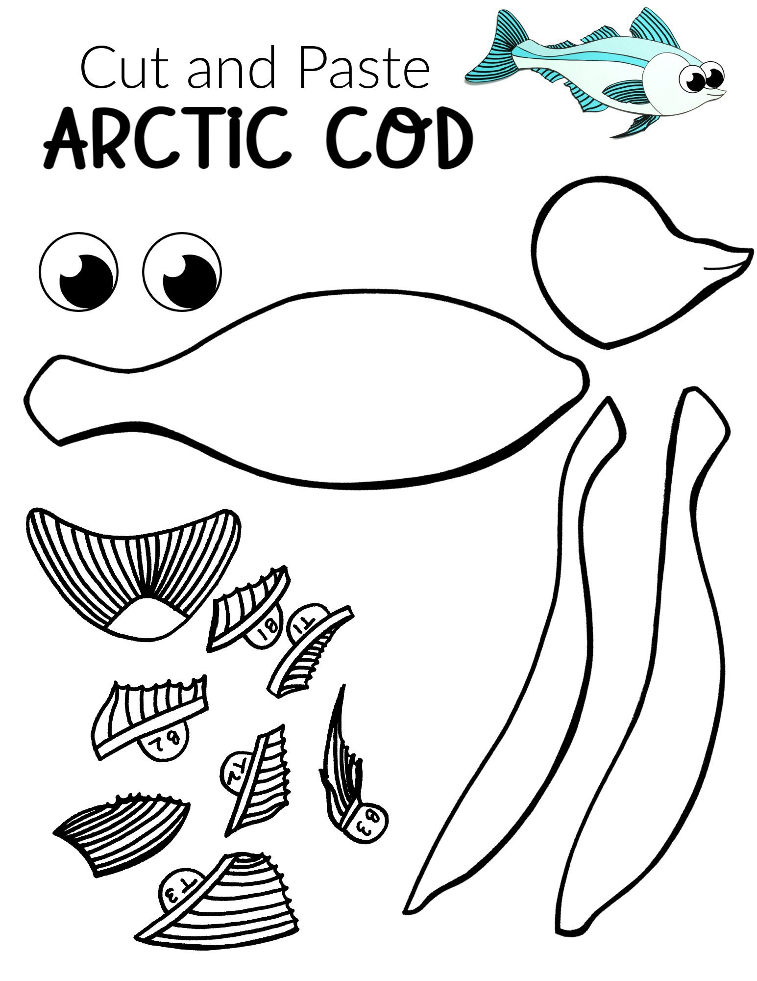 Free Printable Arctic Cod Fish Craft For Kids