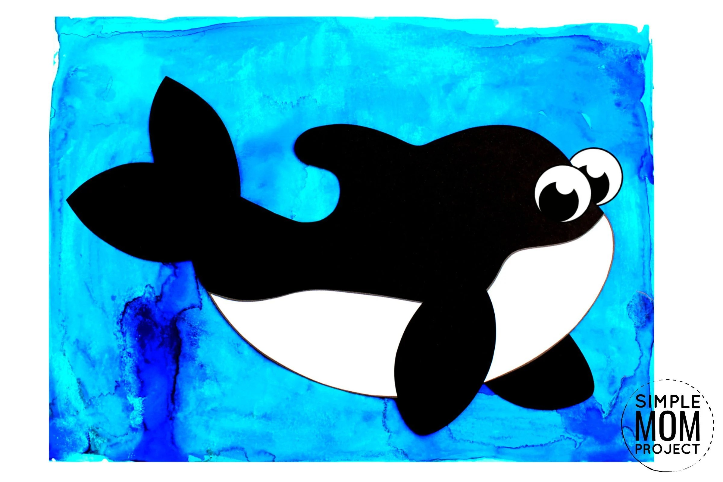 Easy Diy Killer Whale Orca Craft For Kids