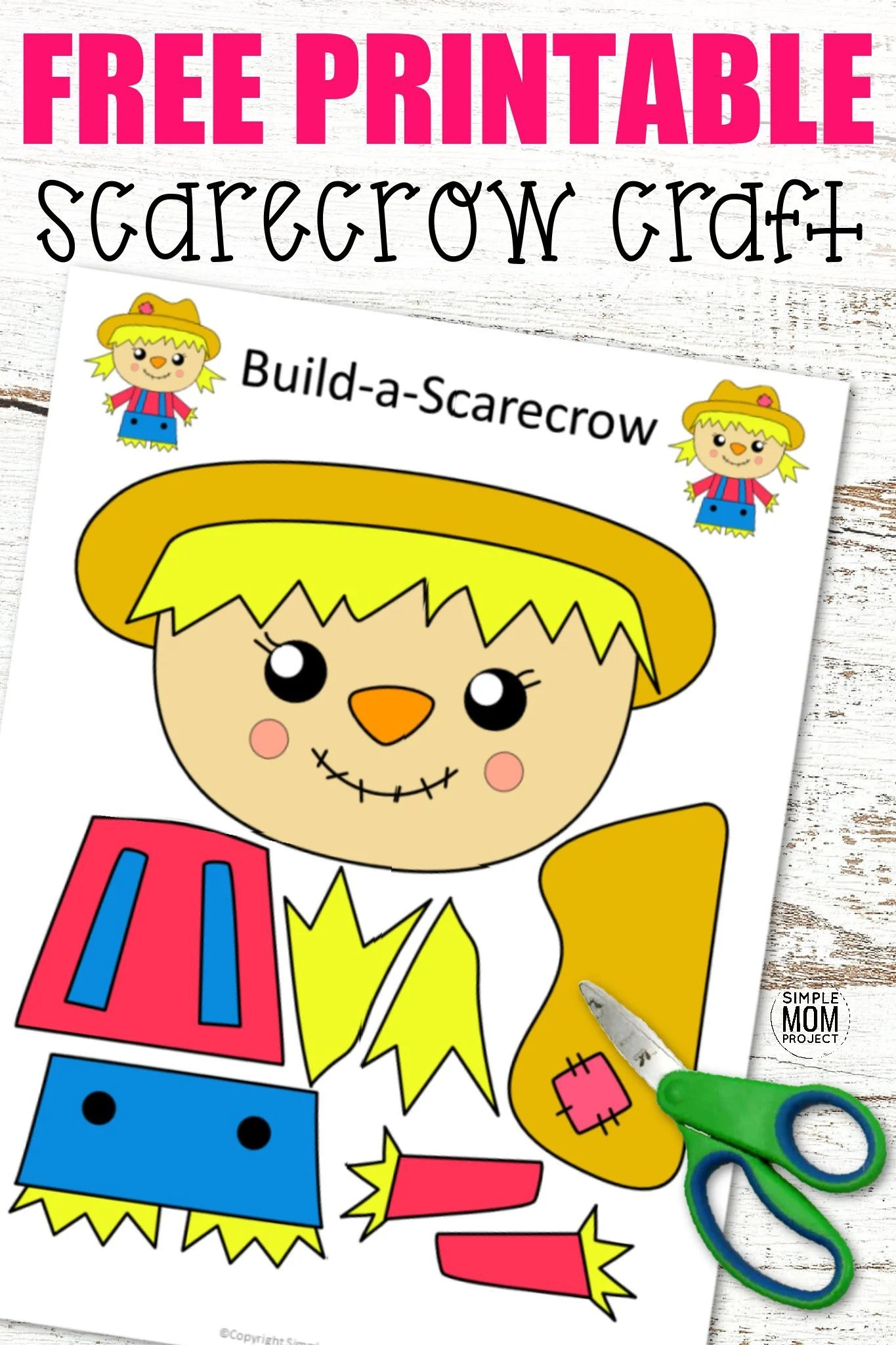 Free Printable Cut And Paste Girl Scarecrow Craft For Kids