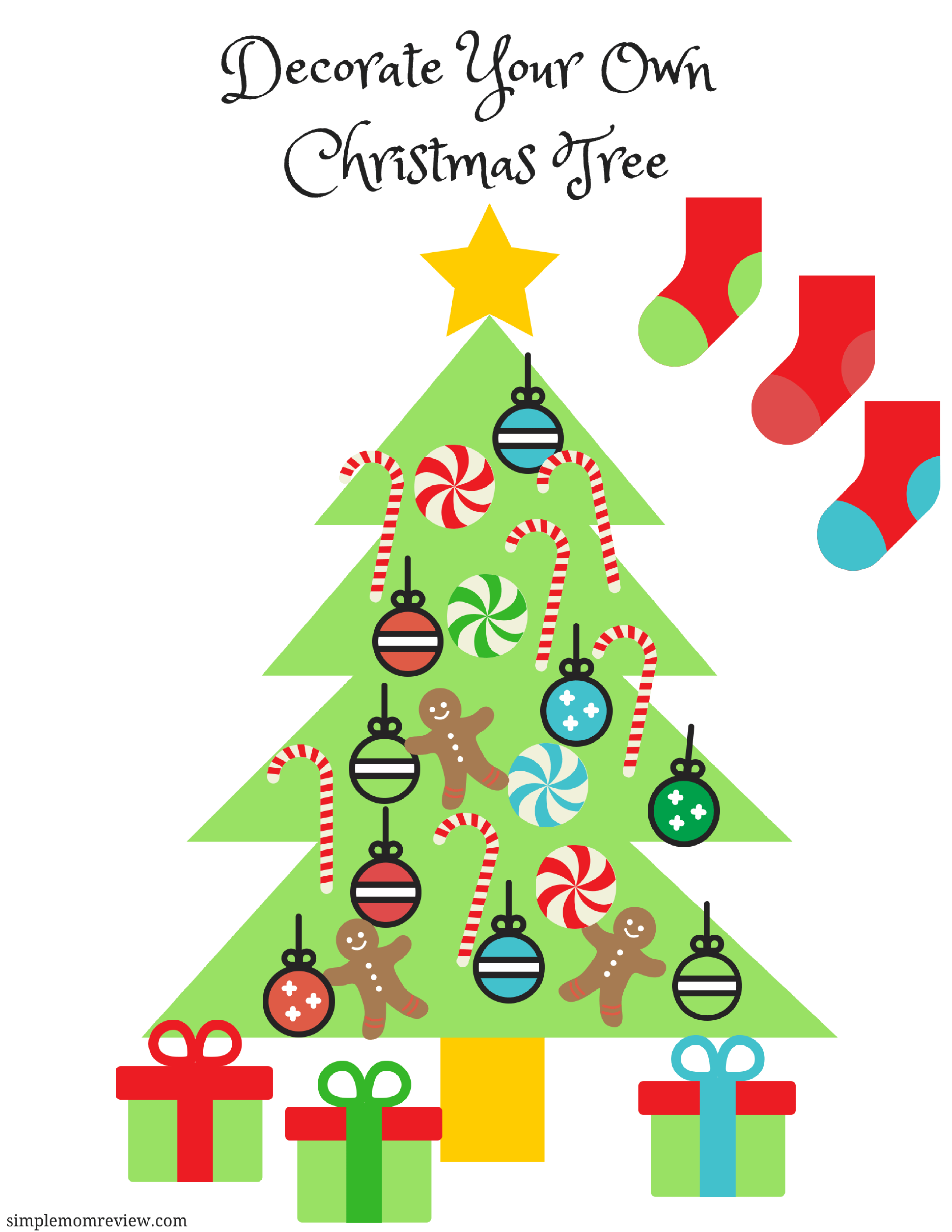 Decorate Your Own Christmas Tree Free Printable