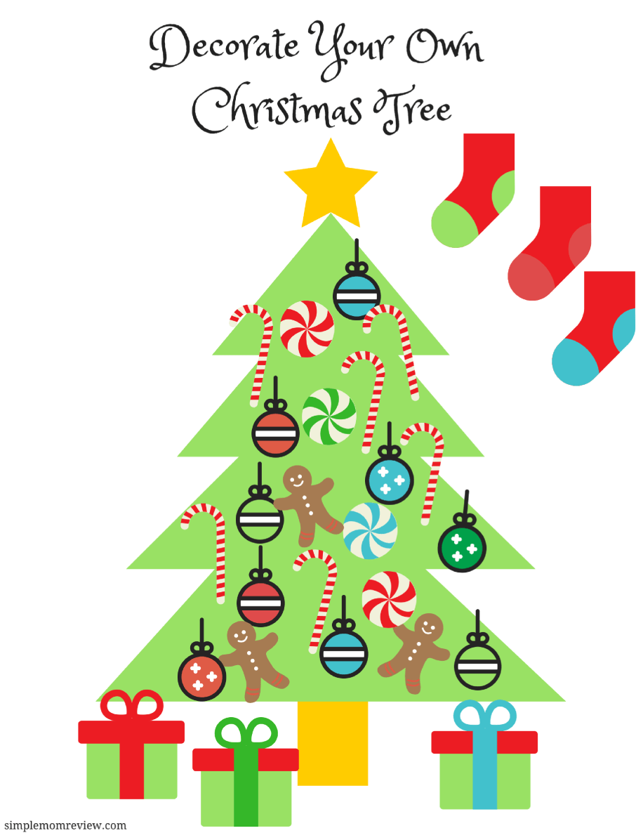 Christmas Tree Printable.Decorate Your Own Christmas Tree Free Printable Simple