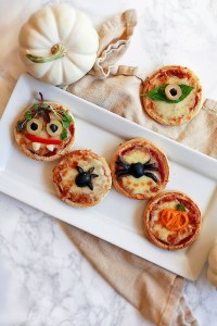 Mini Pizzas Quick and Easy Halloween Night Meals