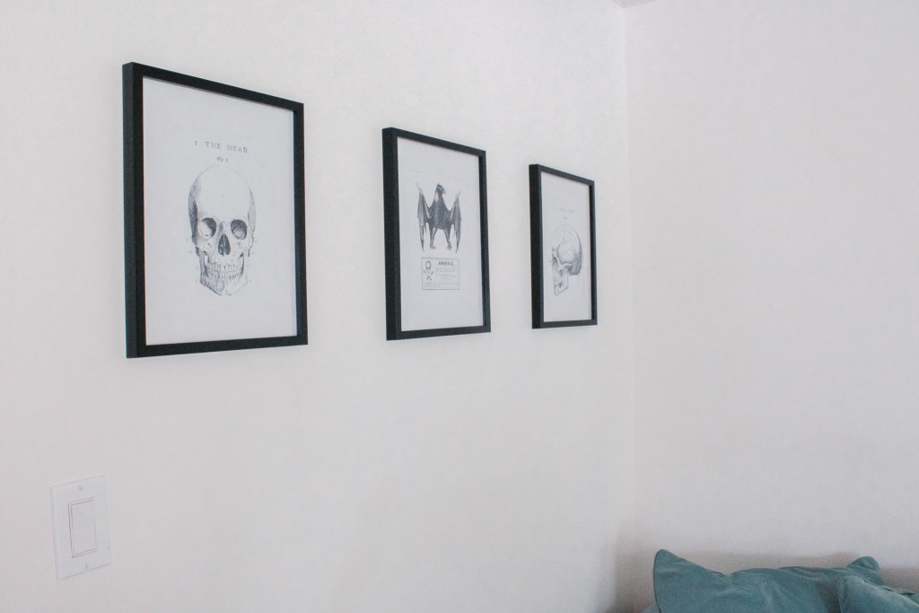 Minimalist Halloween Decor Black and White Prints