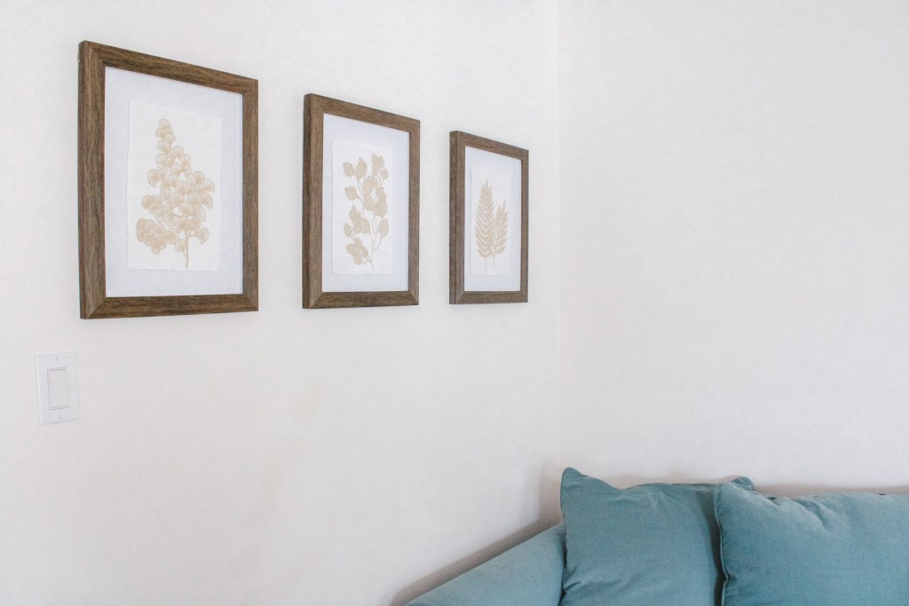 Three Frames with Gold Prints