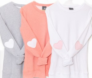 Women's Shirts with Heart Elbow Patches