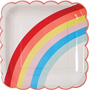 Meri Meri Big Rainbow Plates
