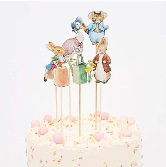 Meri Meri Peter Rabbit and Friends Cake Topper