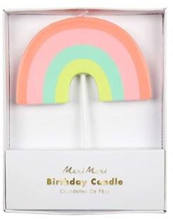 Meri Meri Multicolor Rainbow Candle for Pandemic Birthday Ideas