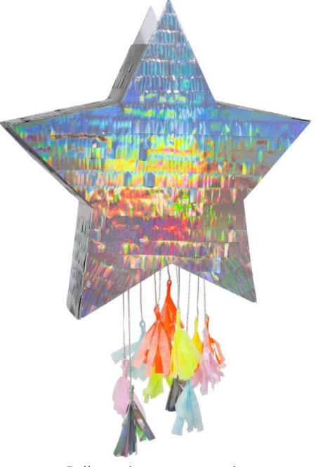 Meri Meri Silver Star Pinata