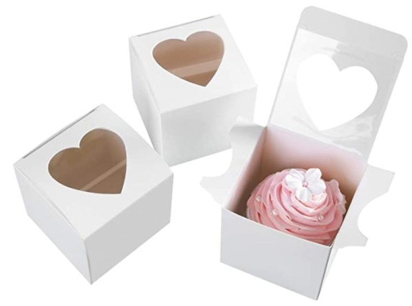 Single White Cupcake Boxes