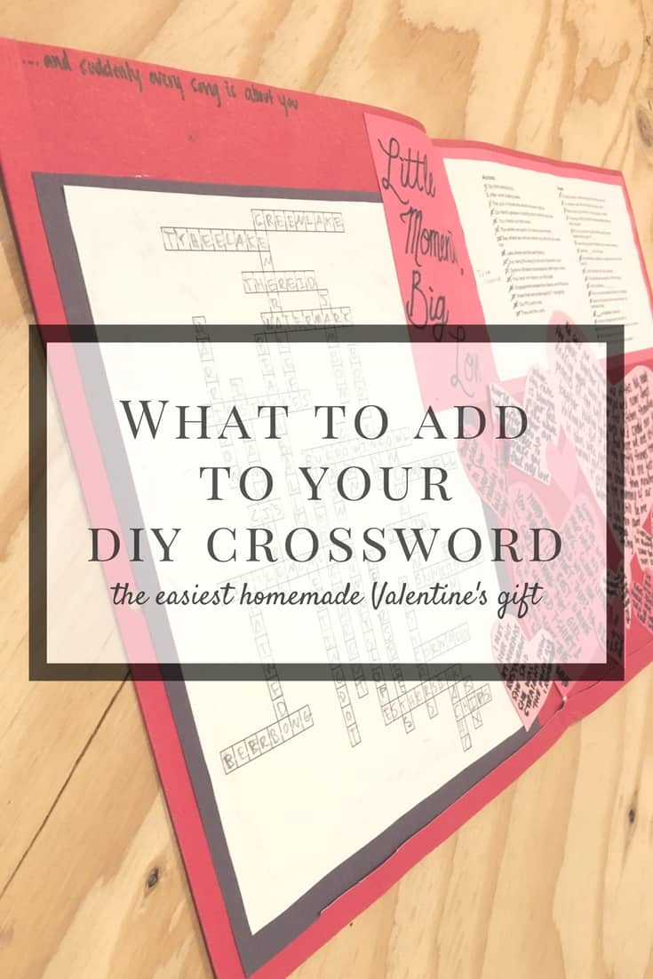 What to add to your DIY custom crossword (the easiest homemade gift)
