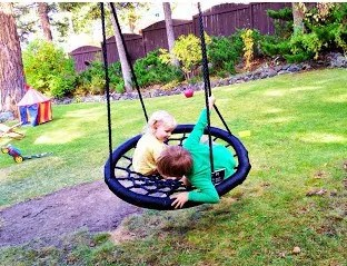The Family Backyard {Upgrading with a Swing & Spin}