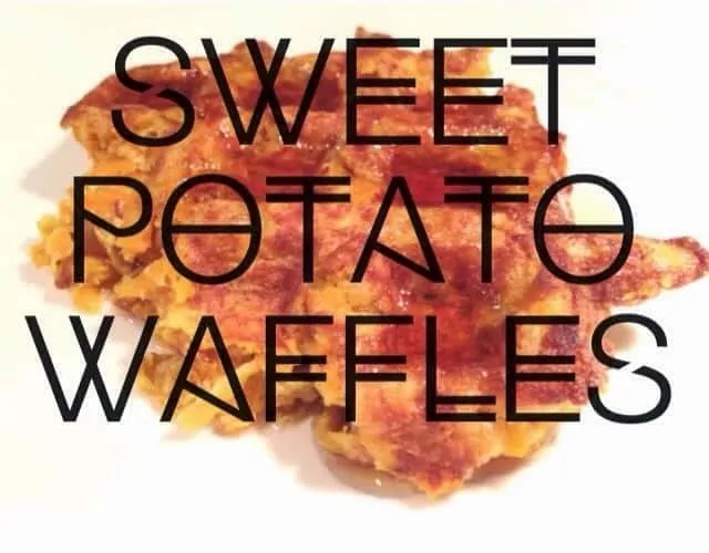Sweet Potato Waffles {Gluten Free, Dairy Free}